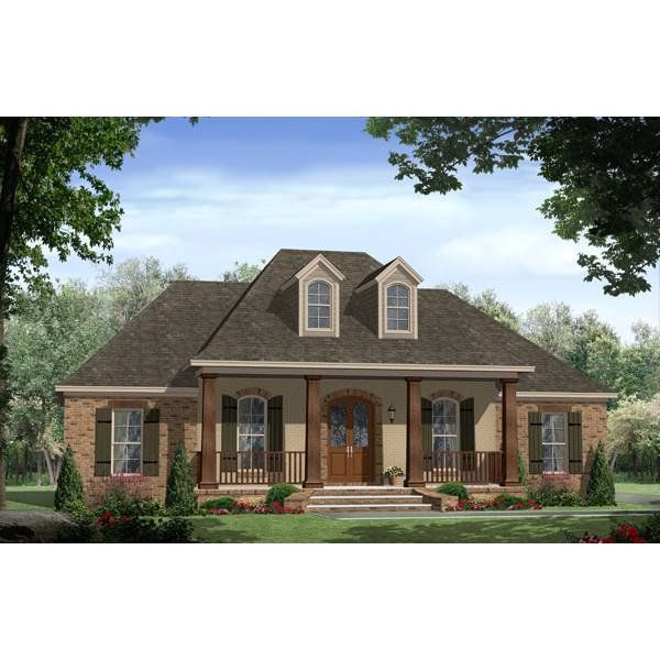 The House Designers THD 7683 Builder Ready Blueprints to Build a Southern House Plan with Slab Foundation 5 Printed Sets