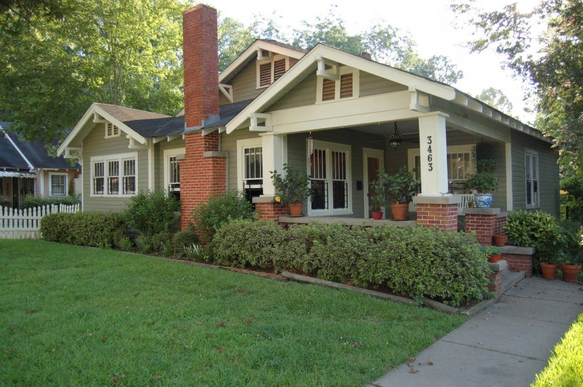 Exterior House Colors With Gray Roof And Red Brick Craftsman Google Search Bungalow Style House Craftsman Style Bungalow Craftsman Bungalows