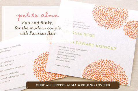 Petite Alma Wedding Invitations @ Wedding Paper Divas