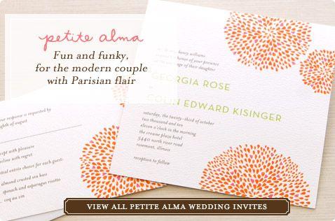Petite Alma Wedding Invitations @ Wedding Paper Divas