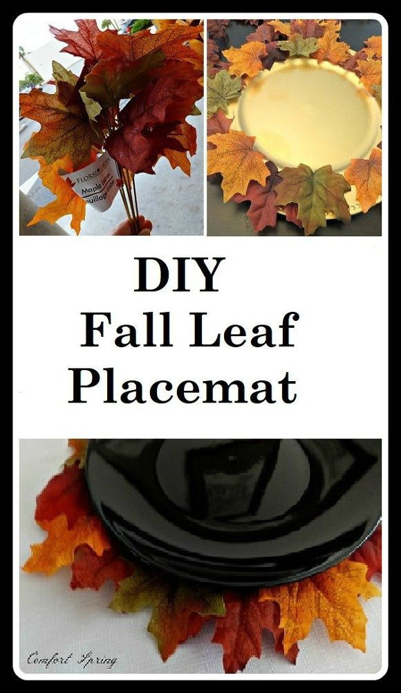 Pier One Inspired Autumn Leaf Faux Placemat Fall Crafts Diy Placemats Diy Placemats