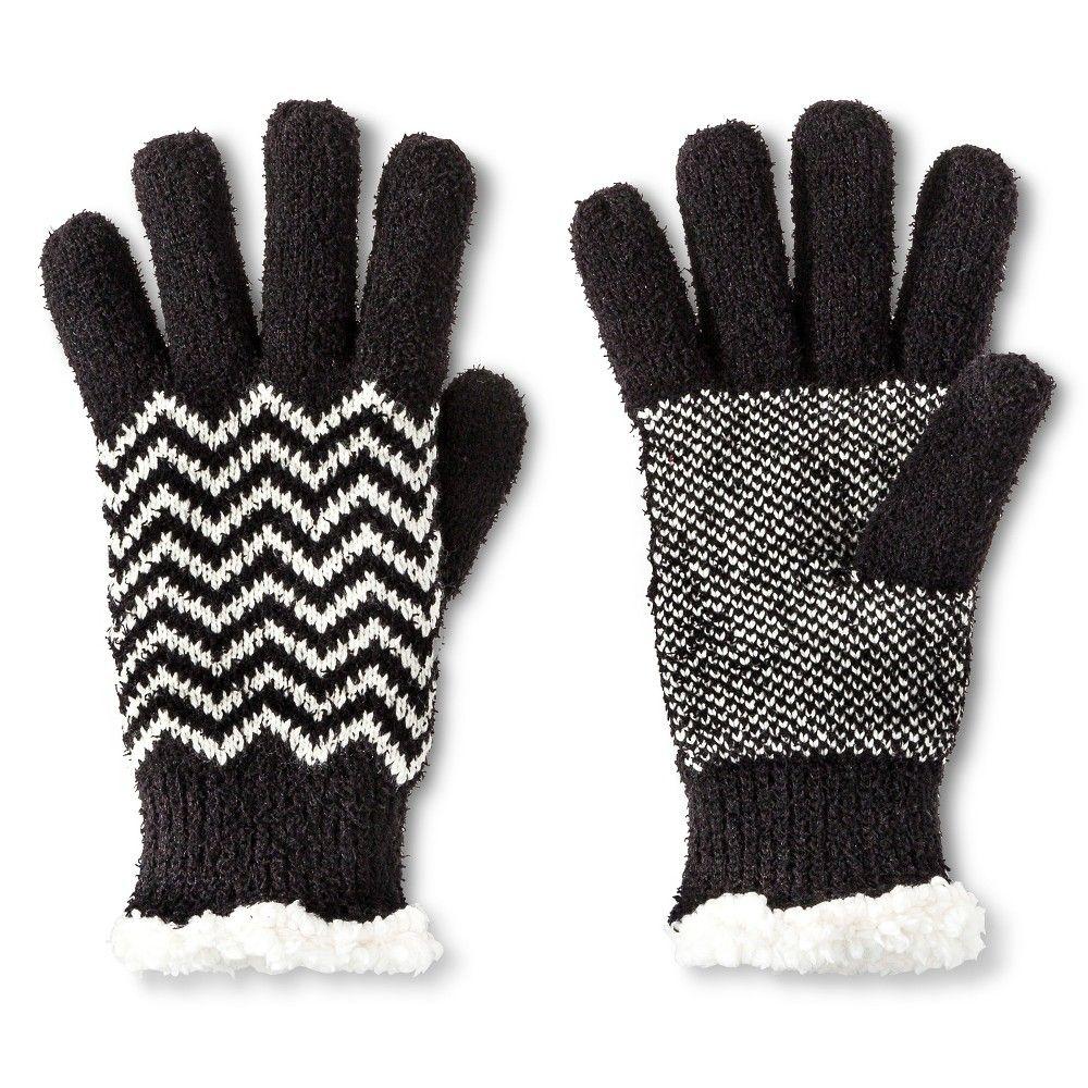 Black gloves at target - Impressions By Isotoner Women S Chevron Gloves Black Target
