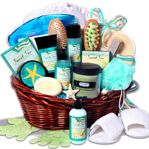 Deluxe Spa Gift Basket By Gourmetgiftbaskets Com Spa Gift Basket Homemade Gift Baskets Homemade Gifts