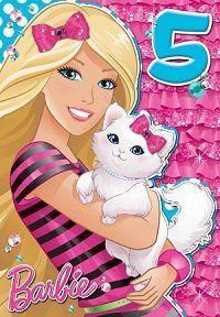 Barbie Age 5 Birthday Card