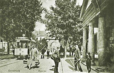 Alte Bilder Fotos Ansichten aus Osnabrück || Osnabrück Hegertor Akzisehaus Straßenbahn || Alte Werte - Neue Ideen