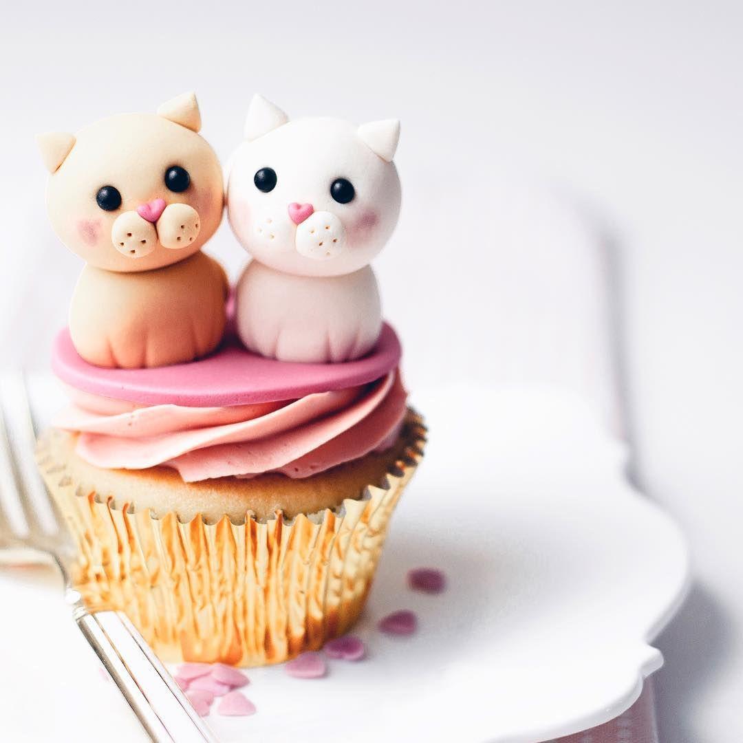 Kitten Cupcake Kitten Cake Cupcake Cakes Baking Art