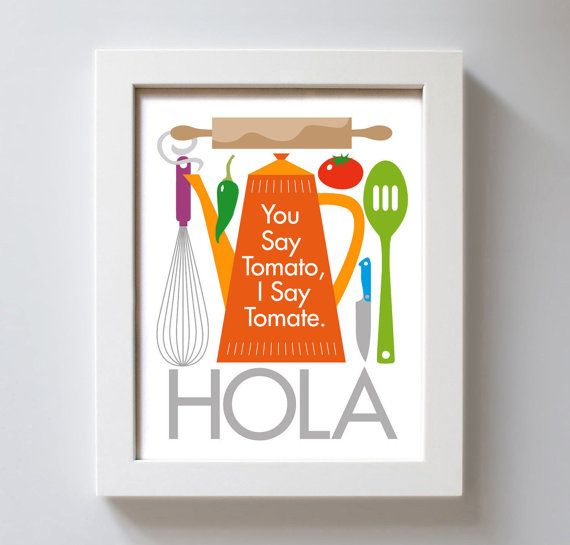 Spanish Kitchen Art Print Kitchen Decor Mexican Cooking By