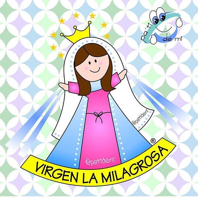 Resultado de imagen para imagen de la virgen milagrosa en caricatura