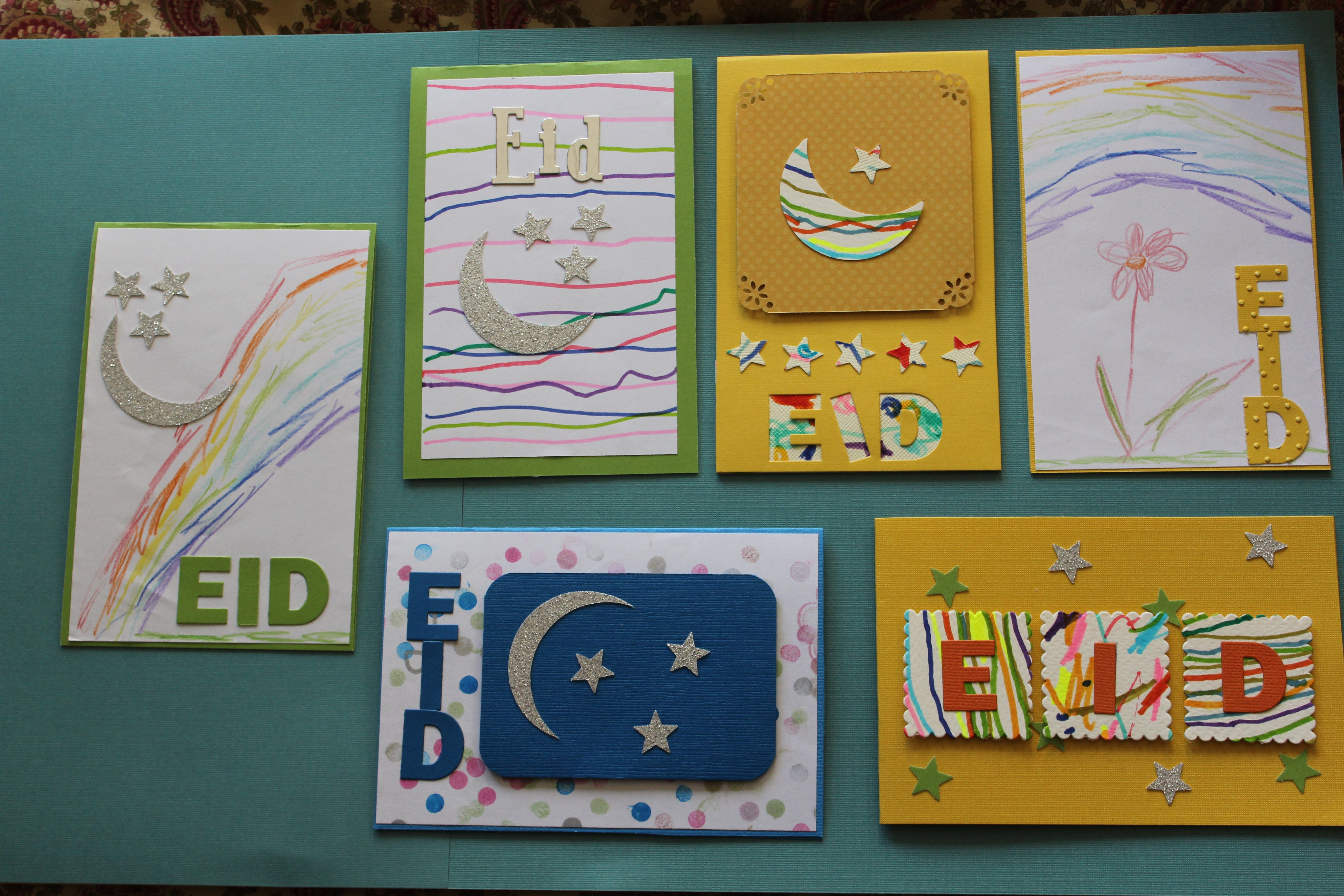 Eid Card Kids Artwork Eid Cards Eid Crafts Ramadan Crafts