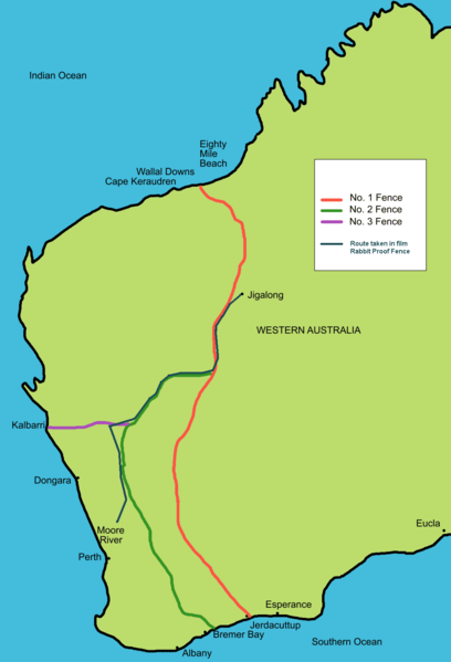 Map Of Australia Before Federation.Rabbit Fences In Western Australia And The Scape From Moore River To
