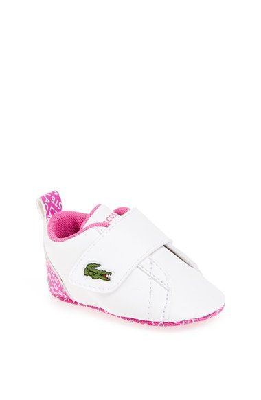 920d4aecdb83 Lacoste  Paris Babe  Crib Shoe (Baby) available at  Nordstrom