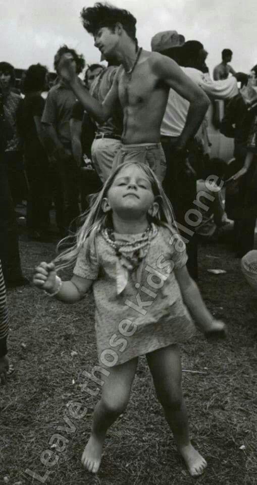 Young girl dancing in Woodstock