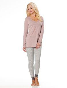 7c1f1939c61b Lace Trim Nursing Pajama Set