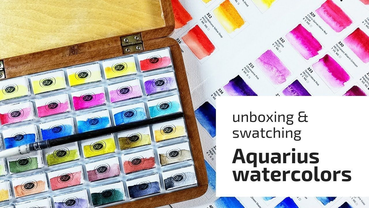 Aquarius Watercolors 36 Full Pans Set Swatching First Impressions