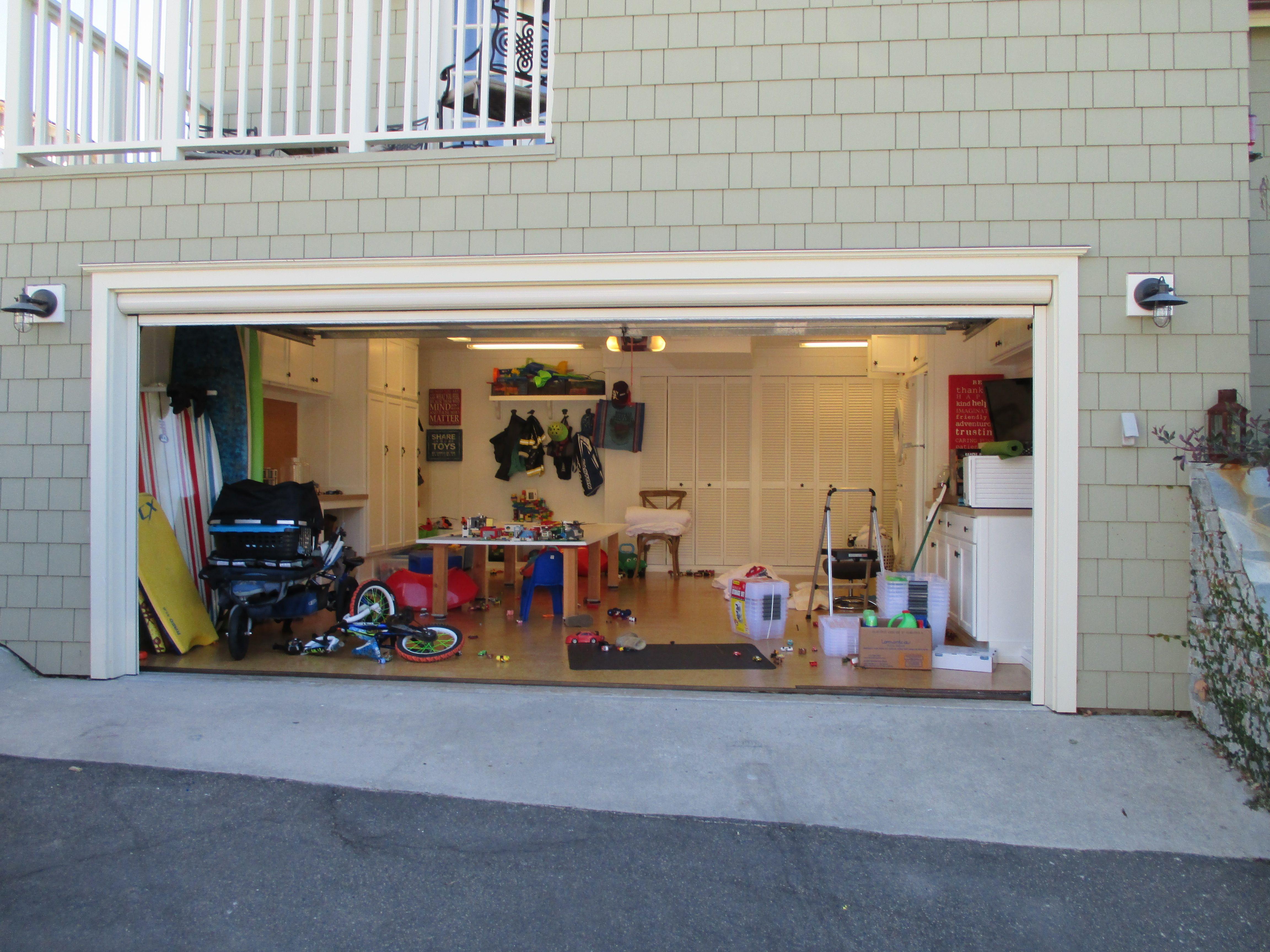 Residential Motorized Power Screens Garage Door Gallery Orange County Ca Garage Doors Garage Screen Door Garage