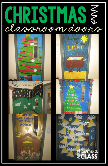 a tour of christmas classroom door decorations around my school