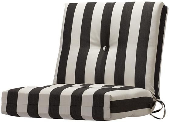 Button-Tufted Seat/Back Outdoor Chair Cushion
