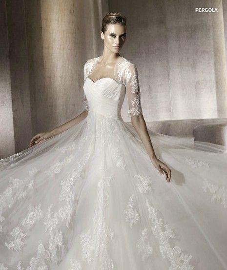 2012 Designer Vintage Lace Wedding Dress with Jacket- Love the ...