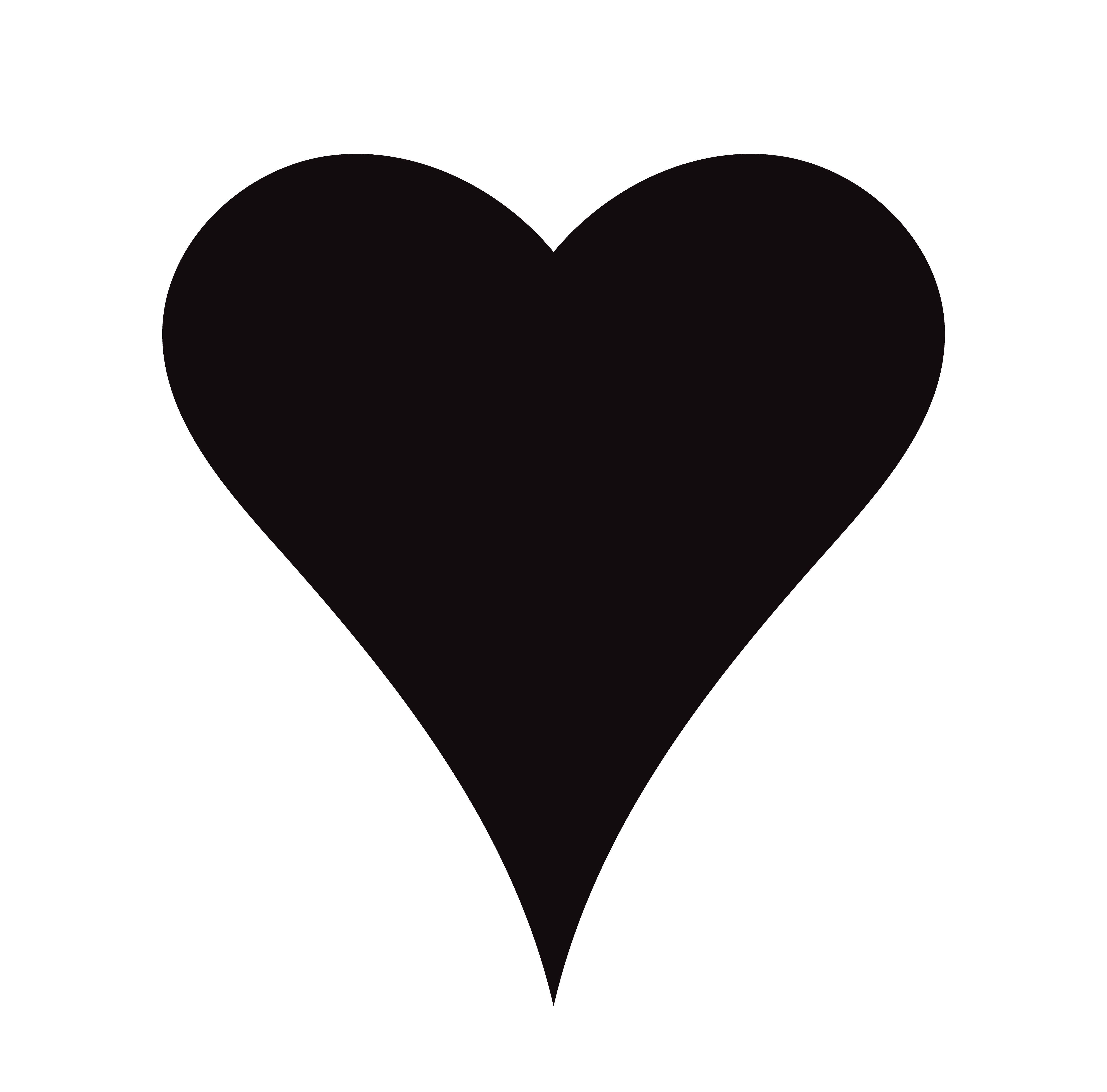 Flat Black Heart Icon Isolated On White Background Vector Illustration Heart Icons Black Heart Heart Illustration