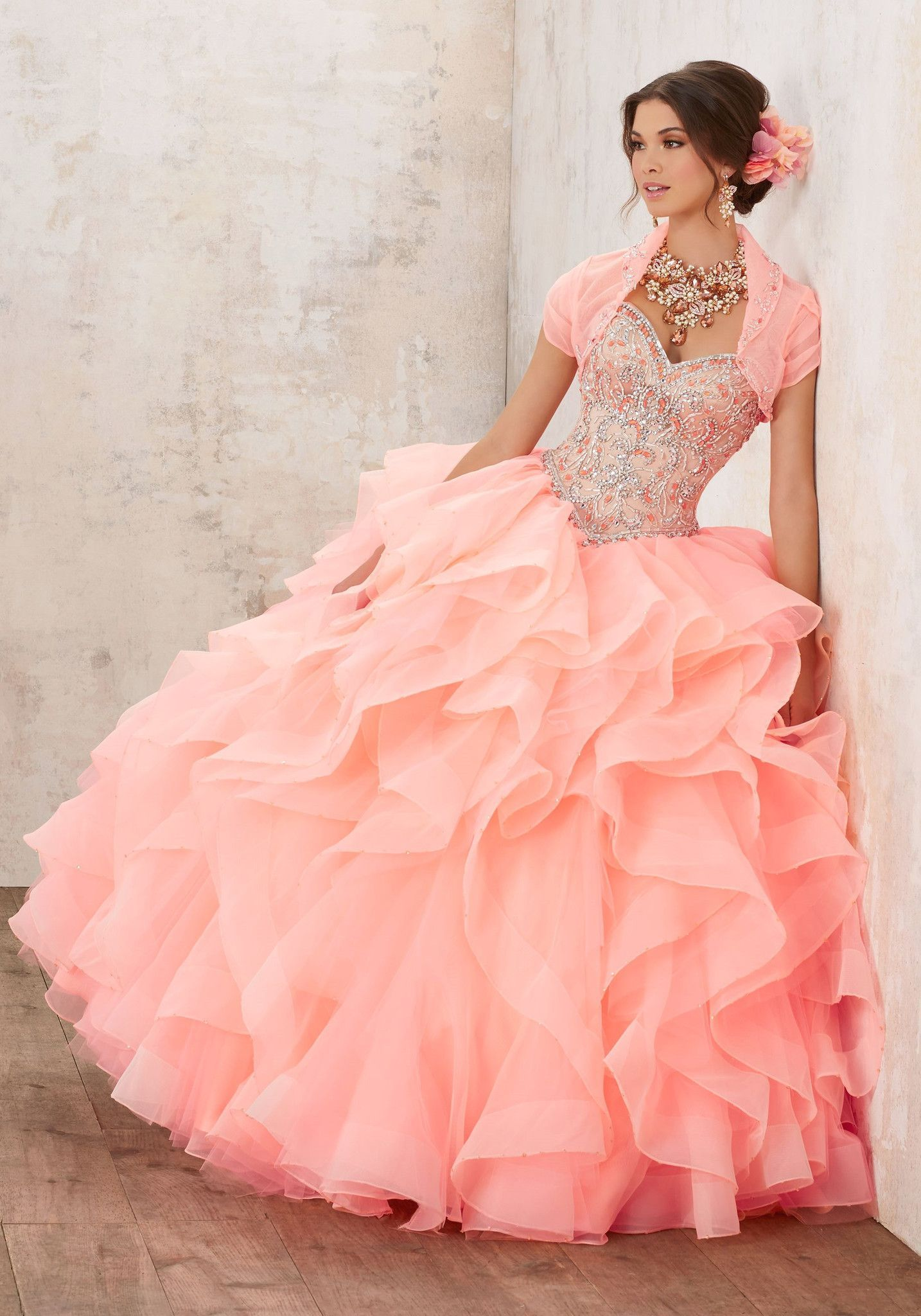 Mori Lee Quinceanera Dress Style 89126 | coral | Pinterest ...