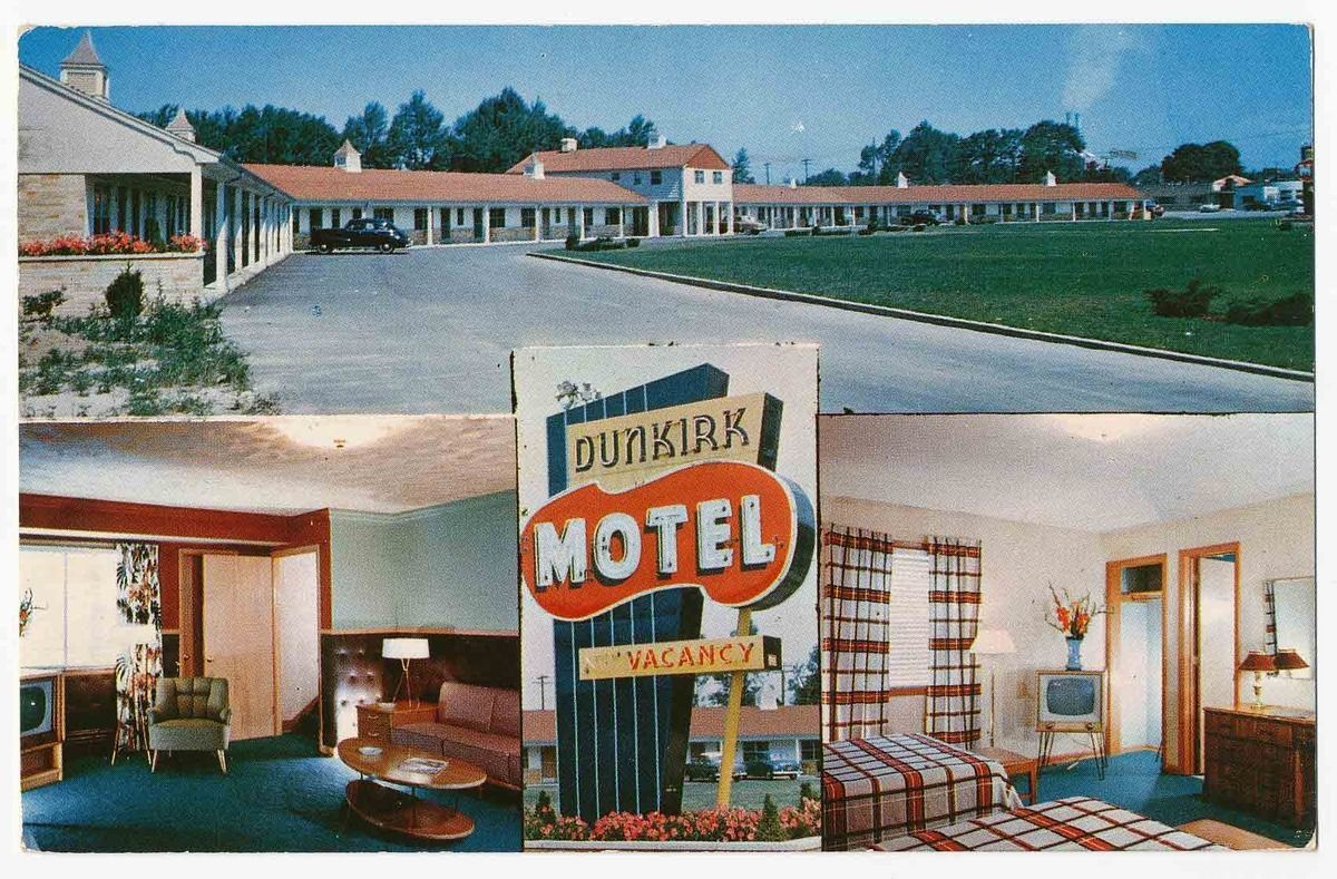 Dunkirk Motel On Lake Erie Route 5 3 Miles North Of 20 Ny 1958