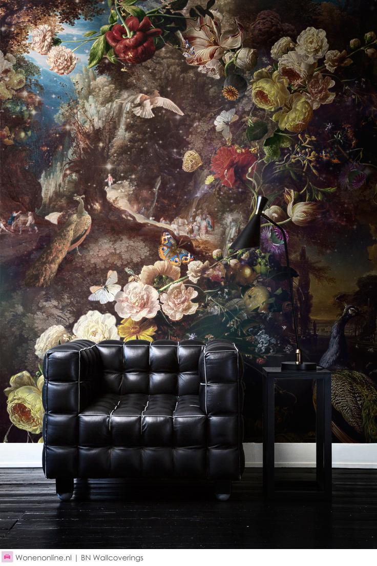 dutch masters behang wallpaper walls and interiors. Black Bedroom Furniture Sets. Home Design Ideas