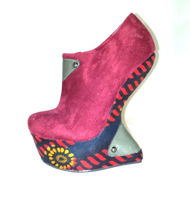 Waterproof African Print Shoes UK 4 by African Septs, showcasing at IchinenFashion on Etsy, £39.99