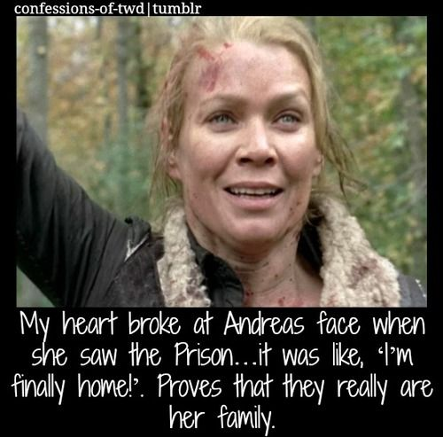 The Walking Dead Confessions My Heart Broke At Andrea S Face When She Was The Prison It Was Like I Walking Dead Zombies The Walking Dead Tv Walking Dead 1
