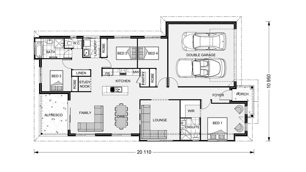 Floor Plan House design, Floor plans, Custom home builders
