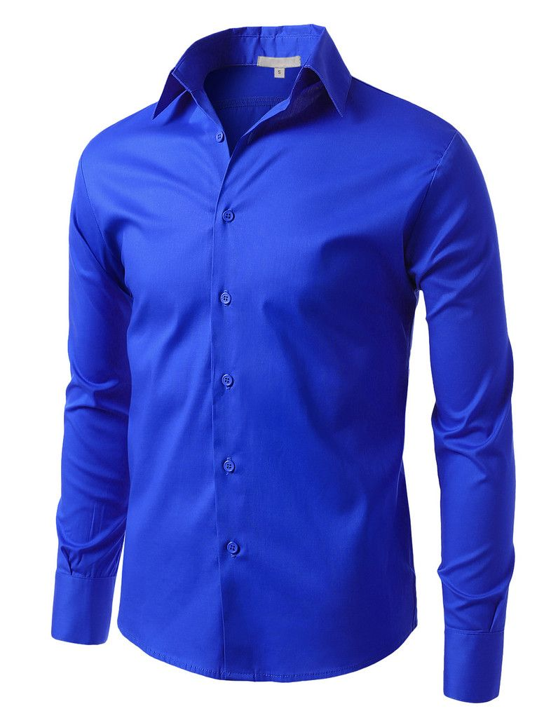 Mens Comfortable Slim Fit Tailored Button Down Shirt (CLEARANCE)
