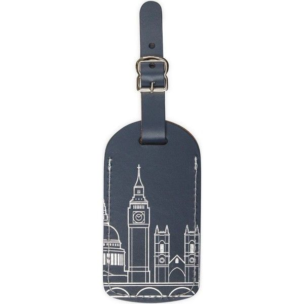 London skyline luggage tag ($14) ❤ liked on Polyvore featuring bags and luggage