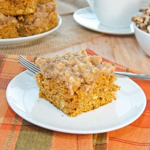 Pumpkin Coffee Cake with Brown Sugar Glaze | Pumpkin ...