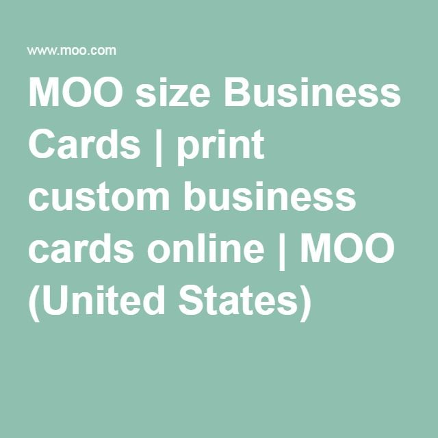 Double Sided Business Cards Moo Us Printing Business Cards Custom Business Cards Business Cards Online