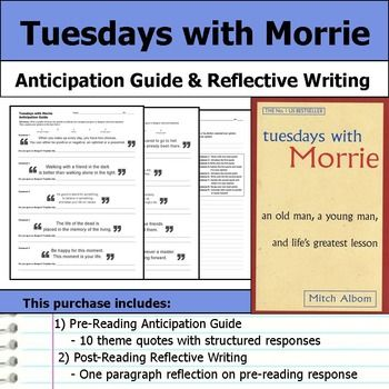 tuesdays with morrie reflection paper Tuesdays with morrie is more than a simple book, more than a romance one it is a great book that teaches us many of life's greatest lessons an analysis of this book using the si perspective and concepts such as meaning making, status, impression management, looking-glass self, role taking, role making, and self-presentation helps us.