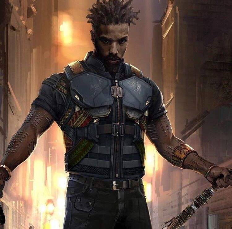 erik killmonger concept art by rodney fuentebella big 39 ole nerd girl pinterest concept art. Black Bedroom Furniture Sets. Home Design Ideas