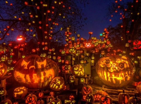 Halloween, USA. All Hallows' Eve is celebrated in many countries ...