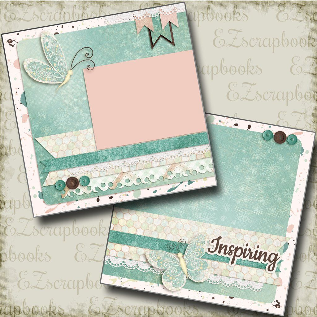 Premade Scrapbook Pages Welcome Baby EZ Layout 4208