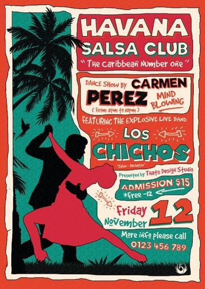 Salsa Flyer Psd Template Design For Photoshop V 4