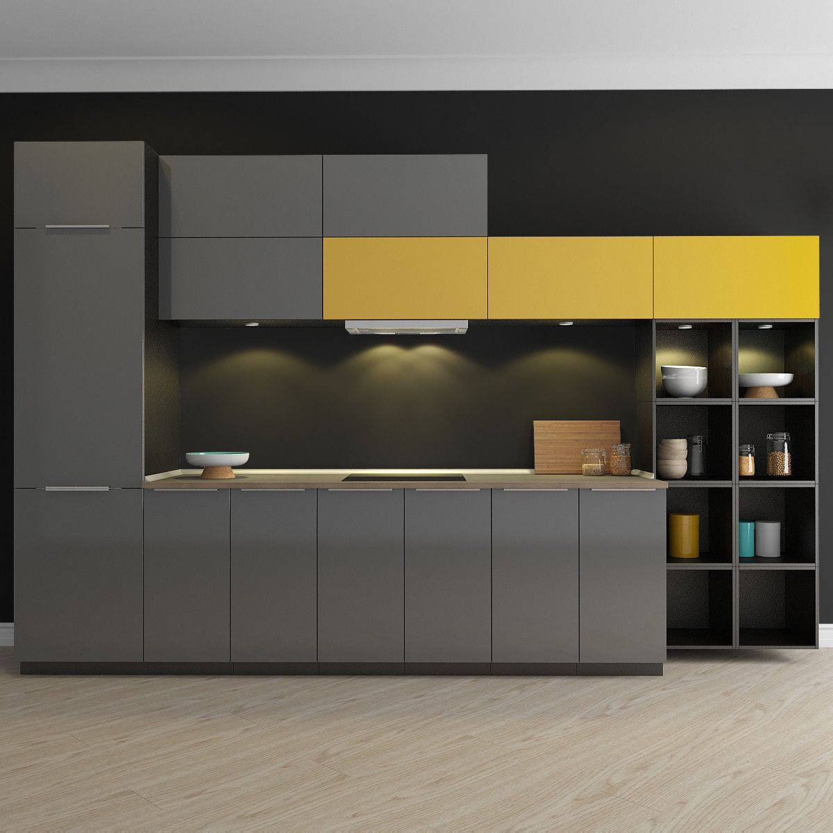 Kitchen Design 3d Model Kitchen Ringhult 3d Max 3d Model 廚房 Kitchen Design Kitchen