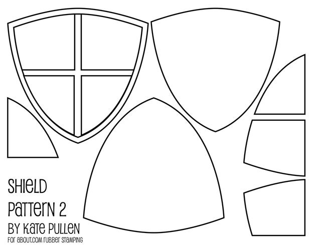 free shield templates for diy