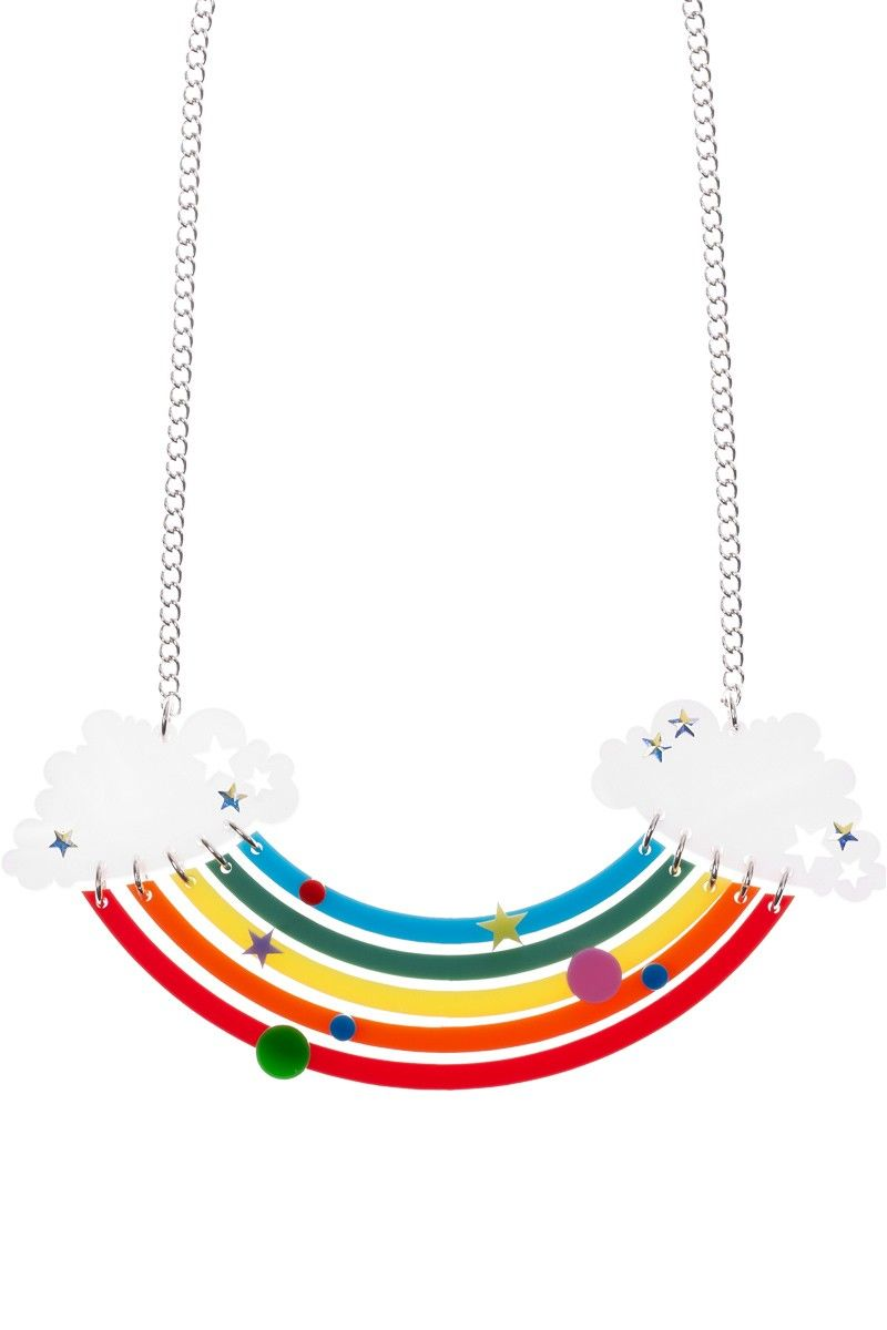 Head in Clouds Rainbow Necklace