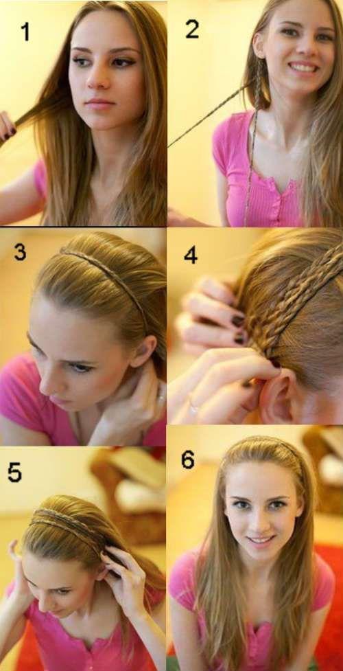 einfache frisuren für langes haar   frisuren, einfache