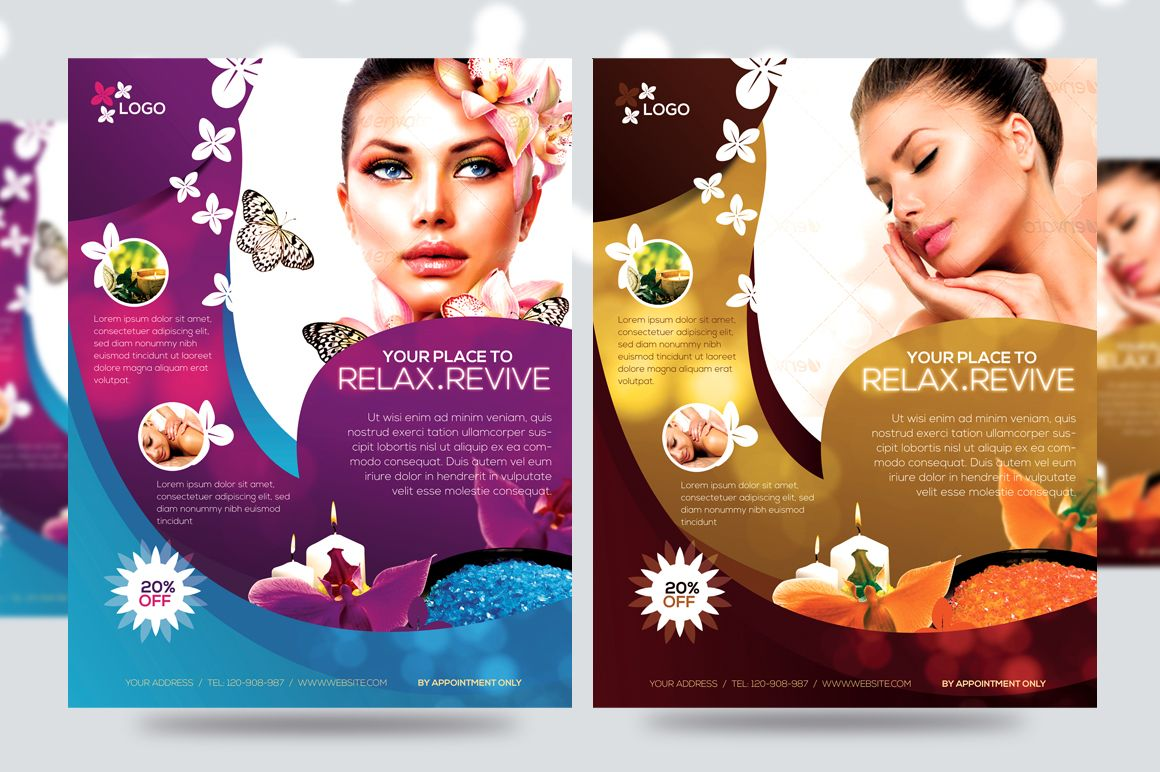 Deluxe Spa Promotion Flyer V By Satgur Design Stussdio On - Free spa brochure templates