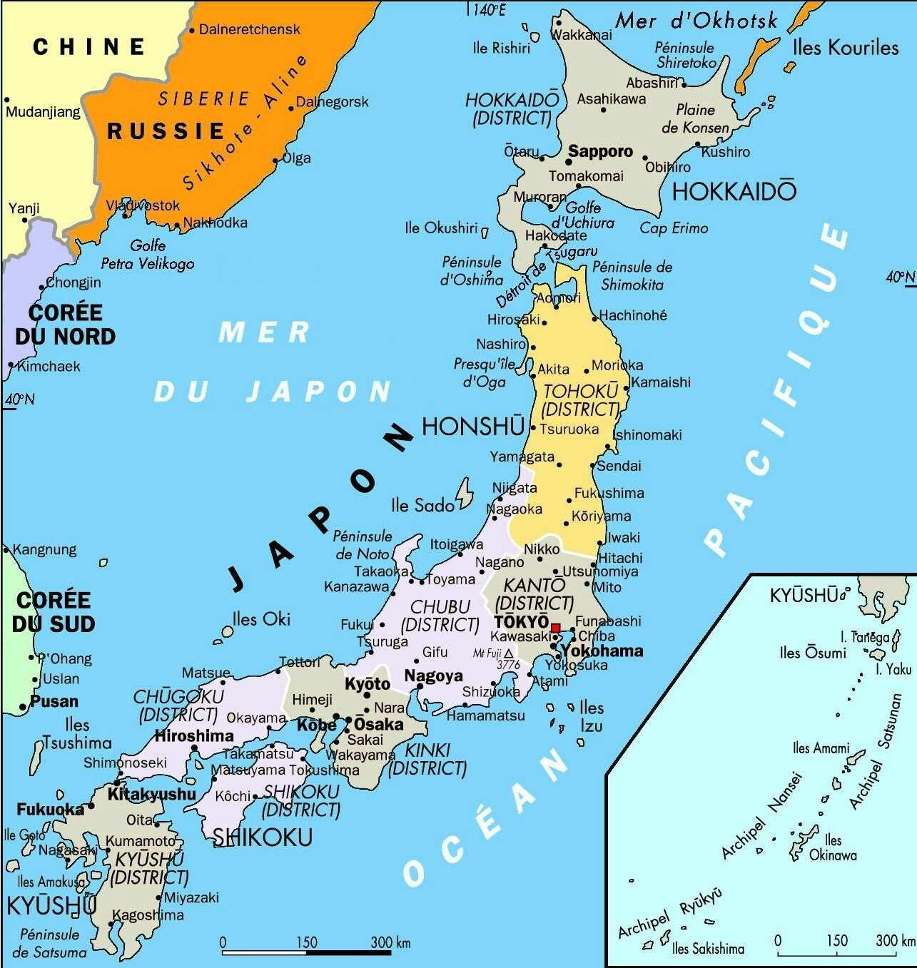 Mapa Político de Japón | Estado de Japón | Pinterest