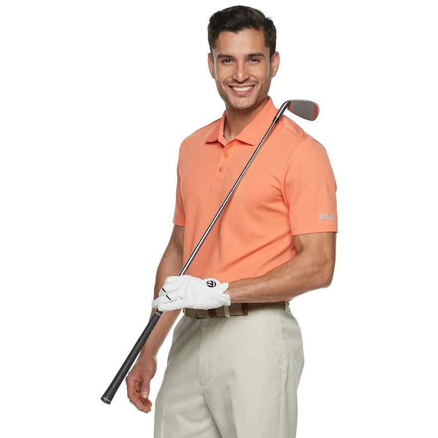 d9bfe6766d8b9 Men's FILA Sport Golf® Regular-Fit Pro Core Pique Performance Polo, Size:  Medium, Med Orange