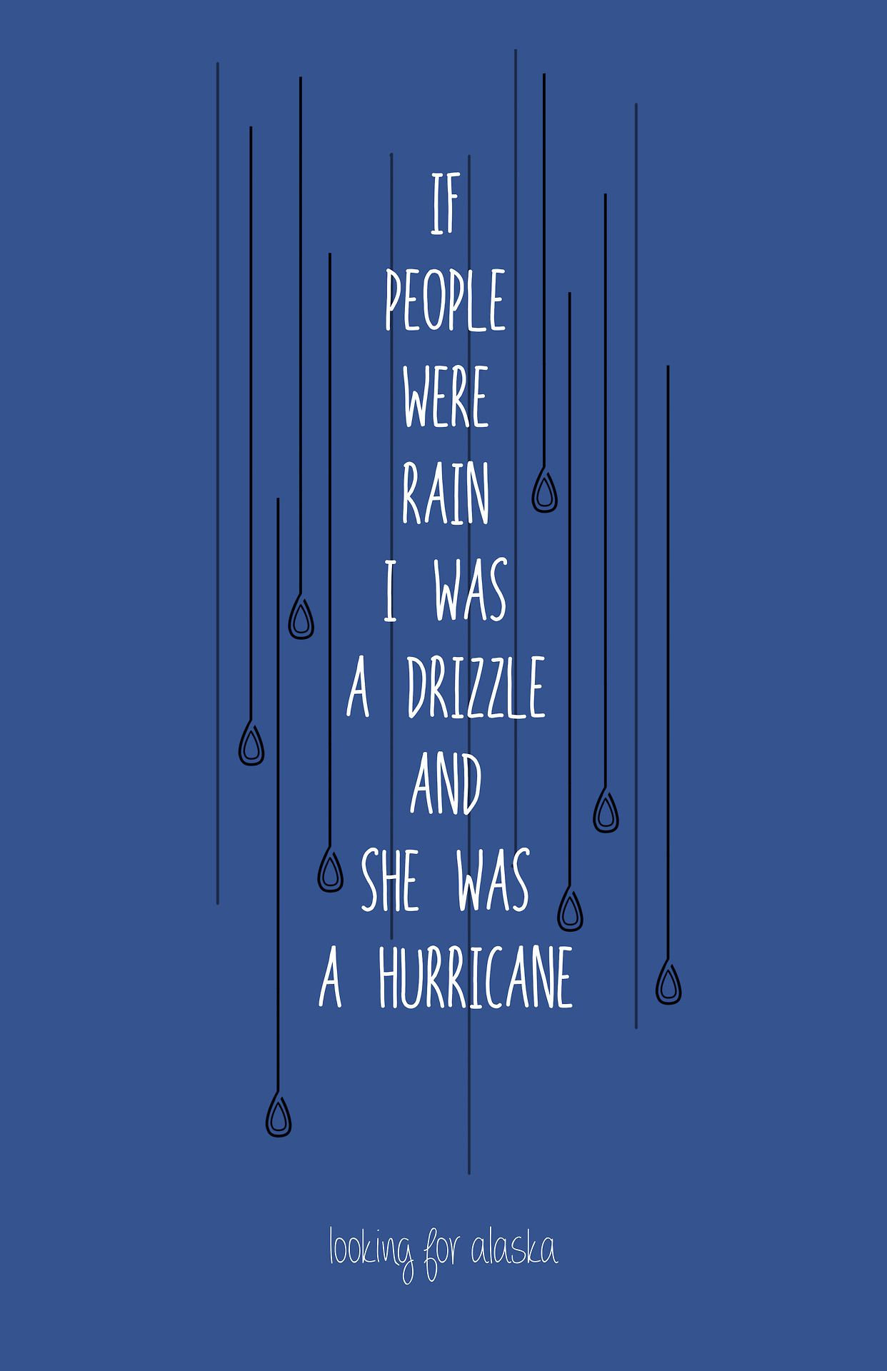 If People Were Rain I Was A Drizzle And She Was A Hurricane John Green Unusual Words Inspirational Quotes If People Were Rain