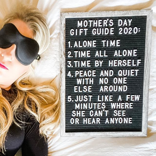 Photo by Ann Marie ❤ of @honestlyannmarie 'MOTHER'S DAY GIFT GUIDE 2020: 1. ALONE TIME 2. 2.TIME ALL ALONE 3.TIME BY HERSELF 4. PEACE AND QUIET WITH WITH NO ONE ELSE AROUND 5. JUST LIKE A FEW MINUTES WHERE SHE CAN'T SEE OR HEAR ANYONE'  Hey there! Let's be friends, k?! Join me on Instagram for authentic inspiration in motherhood, decor, style, and beauty, as well as all of the ridiculous'in.   www.honestlyannmarie.com