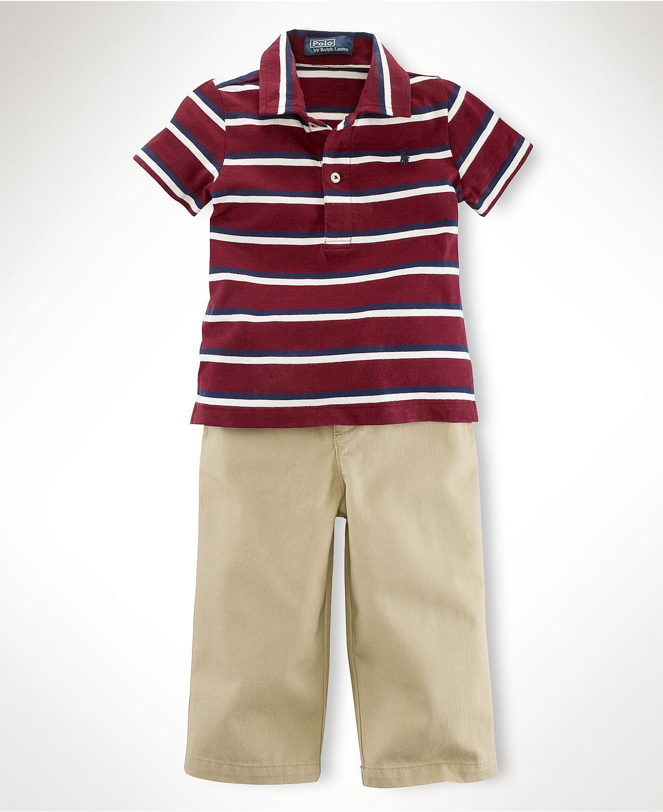 c2e71480 Ralph Lauren Baby Set, Baby Boys Striped Polo and Chino Pants - Kids ...