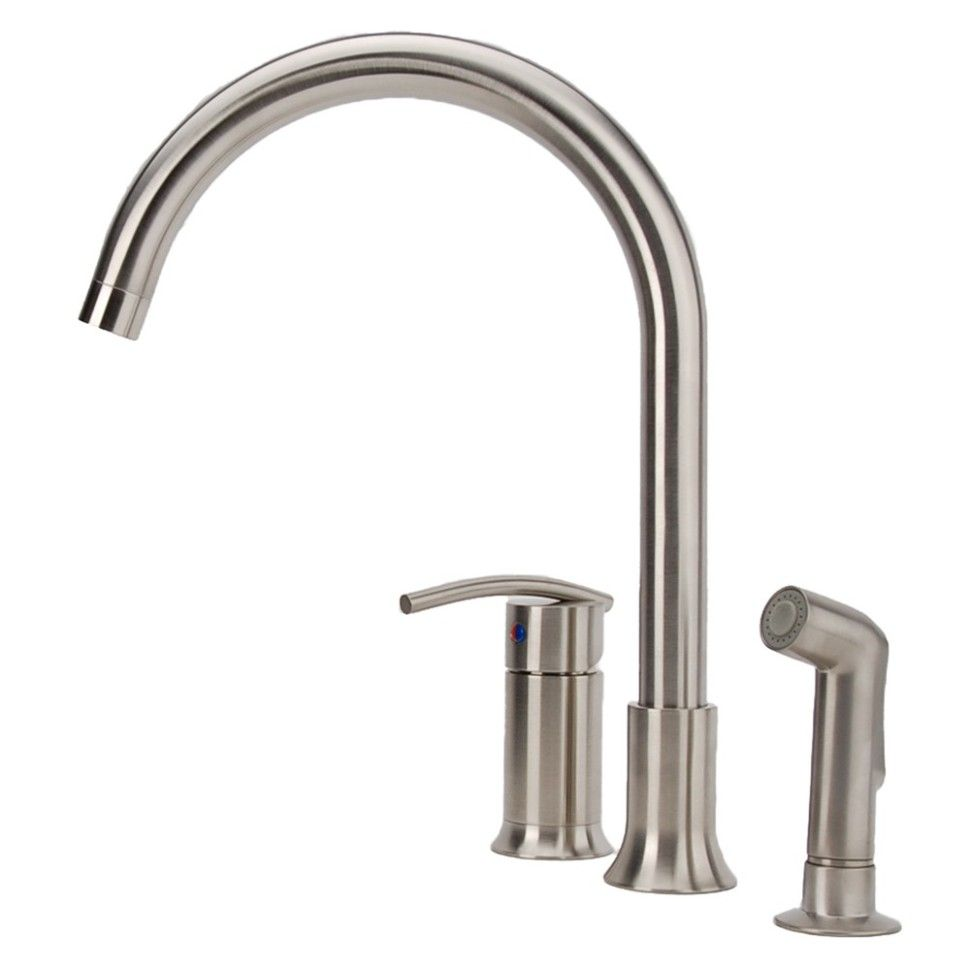 Kitchen:Vincennes 3 Hole 1 Handle Traditional Kitchen Faucet In Brushed Nickel Modern Kitchen Faucets Brushed Nickel Ultra Modern Kitchen Fa...