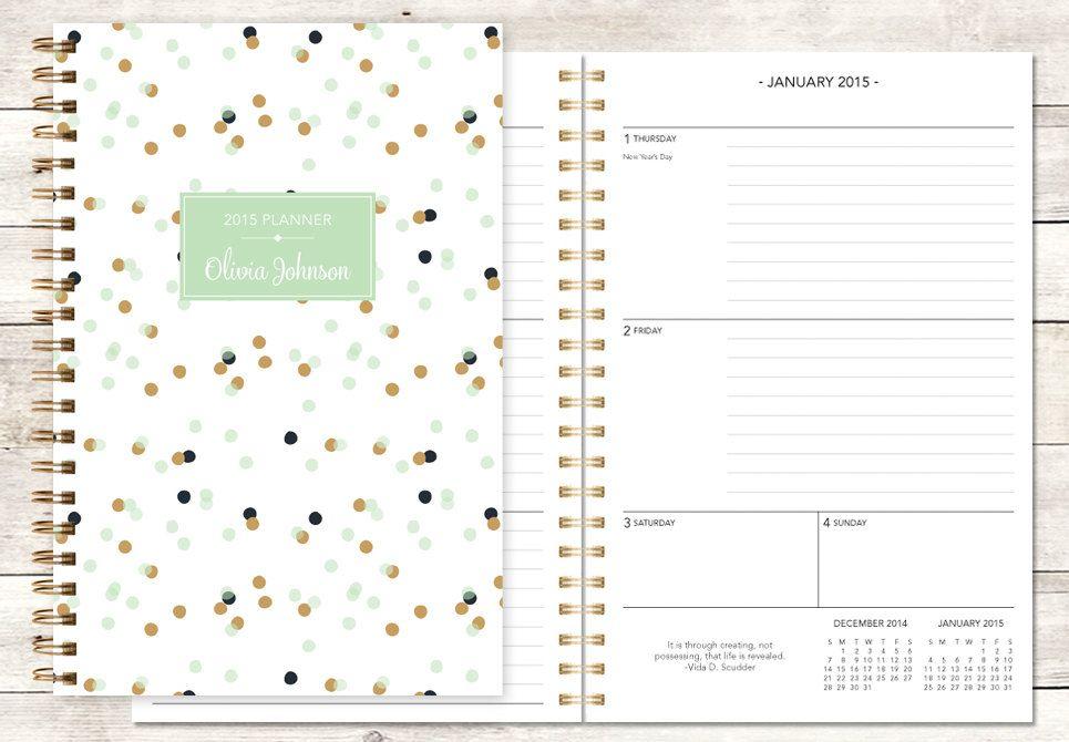 2018 planner calendar choose start month add monthly tabs weekly
